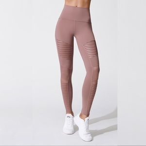 Alo Yoga Smoky Quartz high waist moto leggings